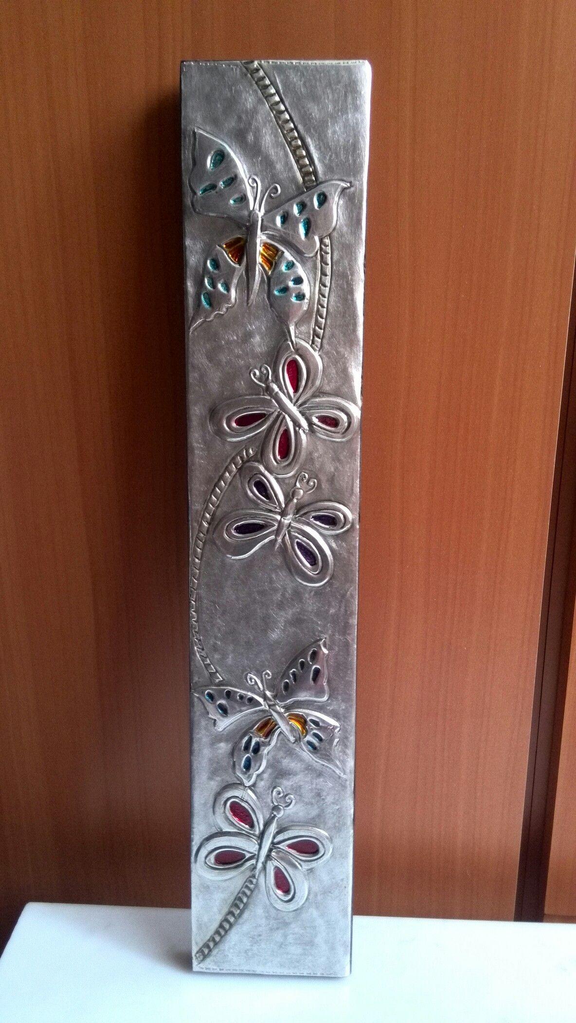 Retablo de madera repujado en aluminio! Marisol Larecca