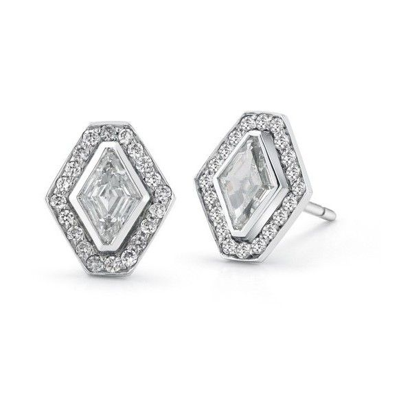 Walters Faith Keynes Signature Hexagon With Diamond And Garnet Earrings ikfcG