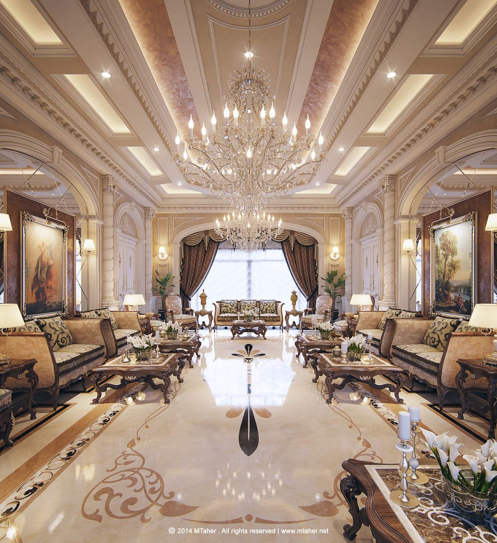 Interior Design Ideas: Luxury Arabic Majlis With Classical Elements. Interior