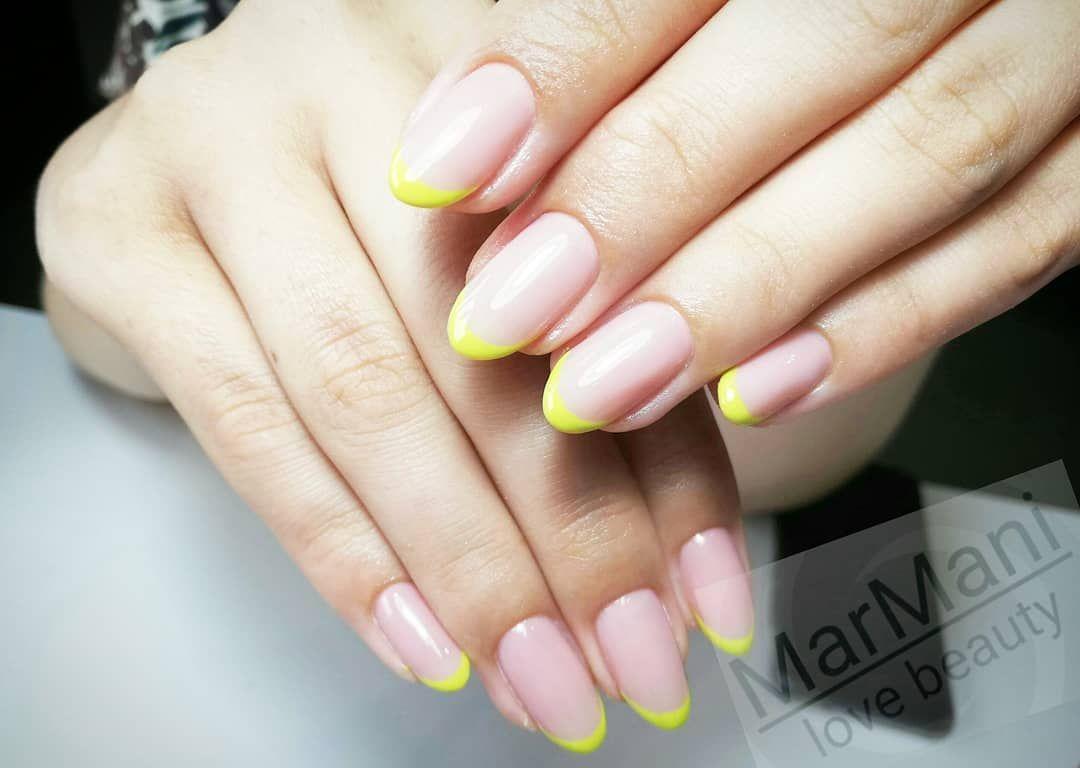 Kolorowy French Wyk Martyna Nailsfashion Nailsalons