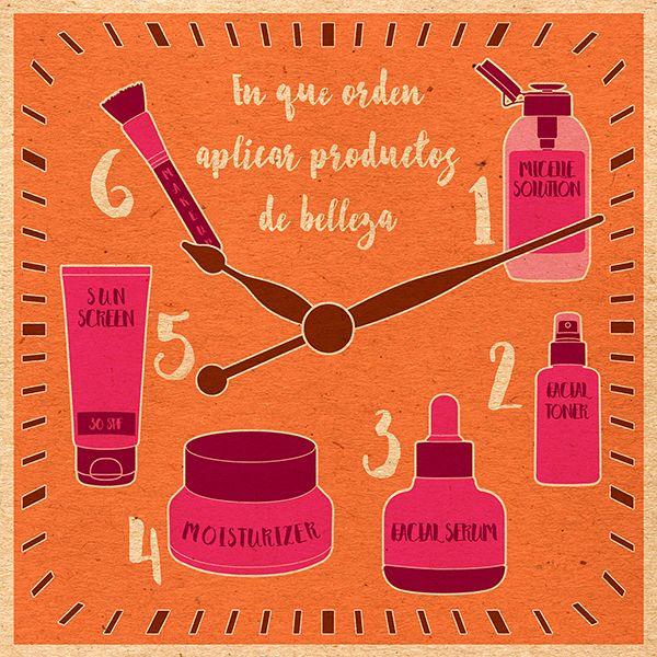 En qué orden aplicar tus productos de belleza.