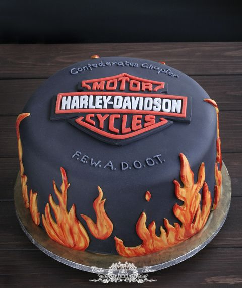 Tort Harley Davidson Motorcycle Cake Dad Birthday Cakes New