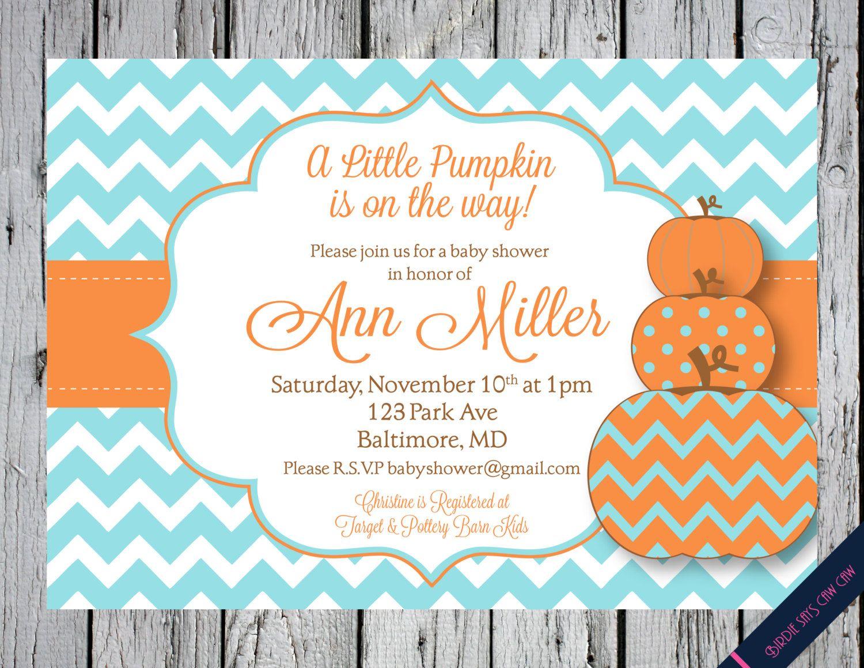 SALE Little Pumpkin Printable Baby Shower by BirdieSaysCawCaw ...