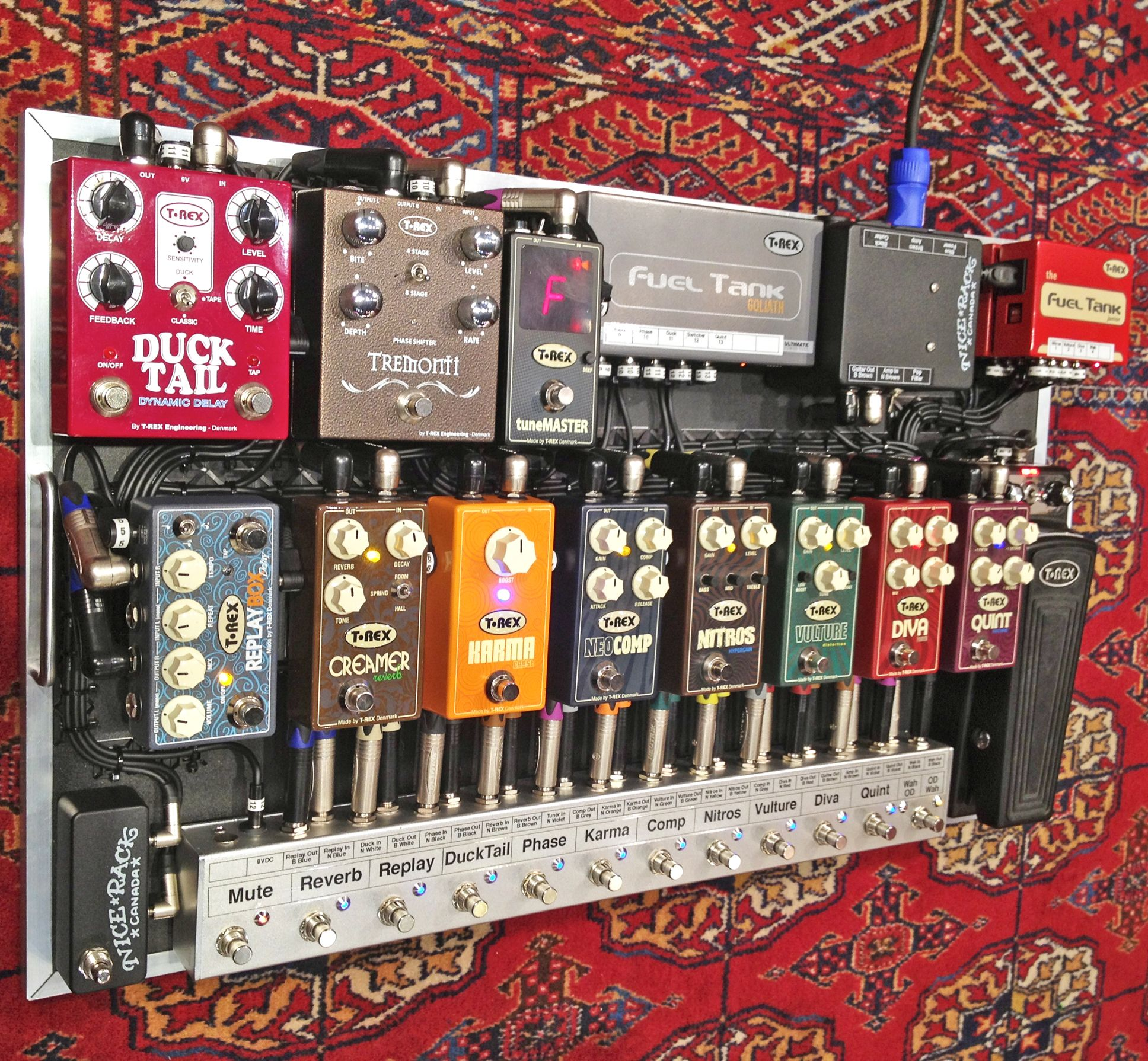 demo pedalboard for trexeffects canada office designed built by. Black Bedroom Furniture Sets. Home Design Ideas