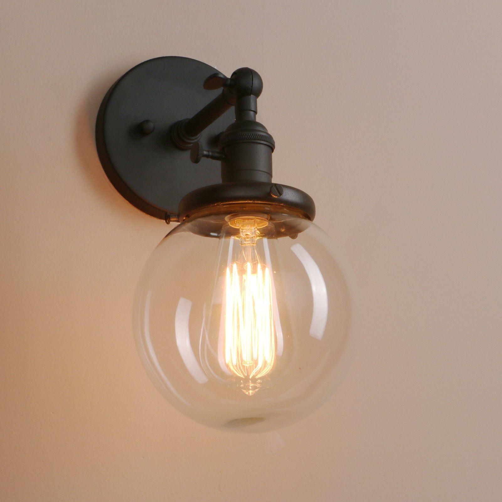Ein Landhaus Traumchen Vintage Wandleuchte Frideko Retro Stil Simplicity Rustikal Kreative Glas Wandlampe Fur Loft Wandleuchte Metall Laterne Wandleuchter