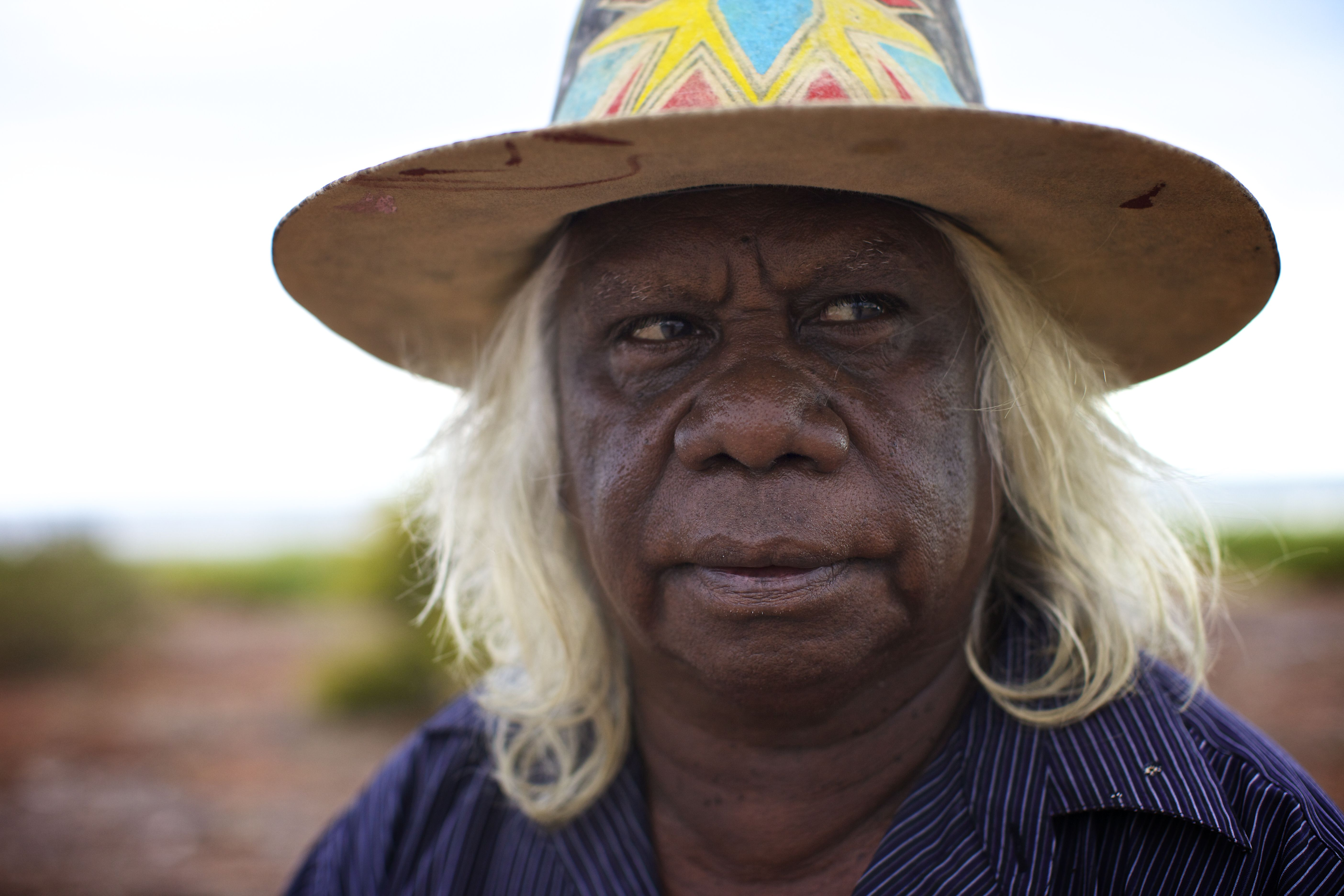 Australian, Aboriginal artist Bruce Wiggin. Aboriginal