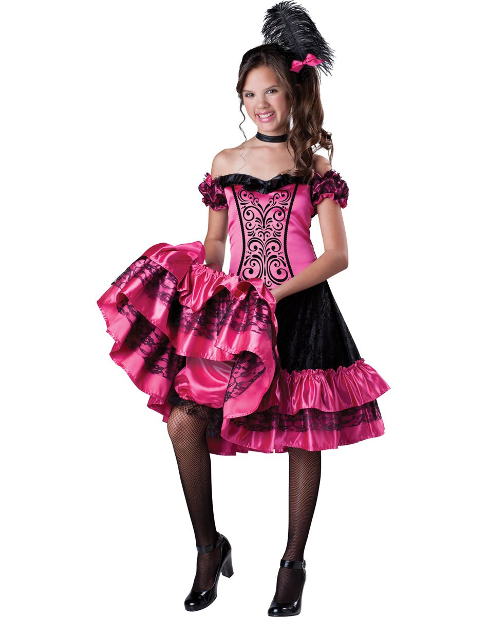 sceleton bride halloween costumes for girls age 10 | Can Can Girls ...