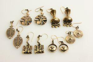 Laine Jorma, earring, bronze