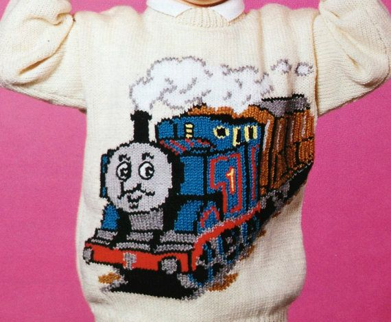 Thomas The Tank Engine Knitting Pattern For Sweaters By Ecbcrafts