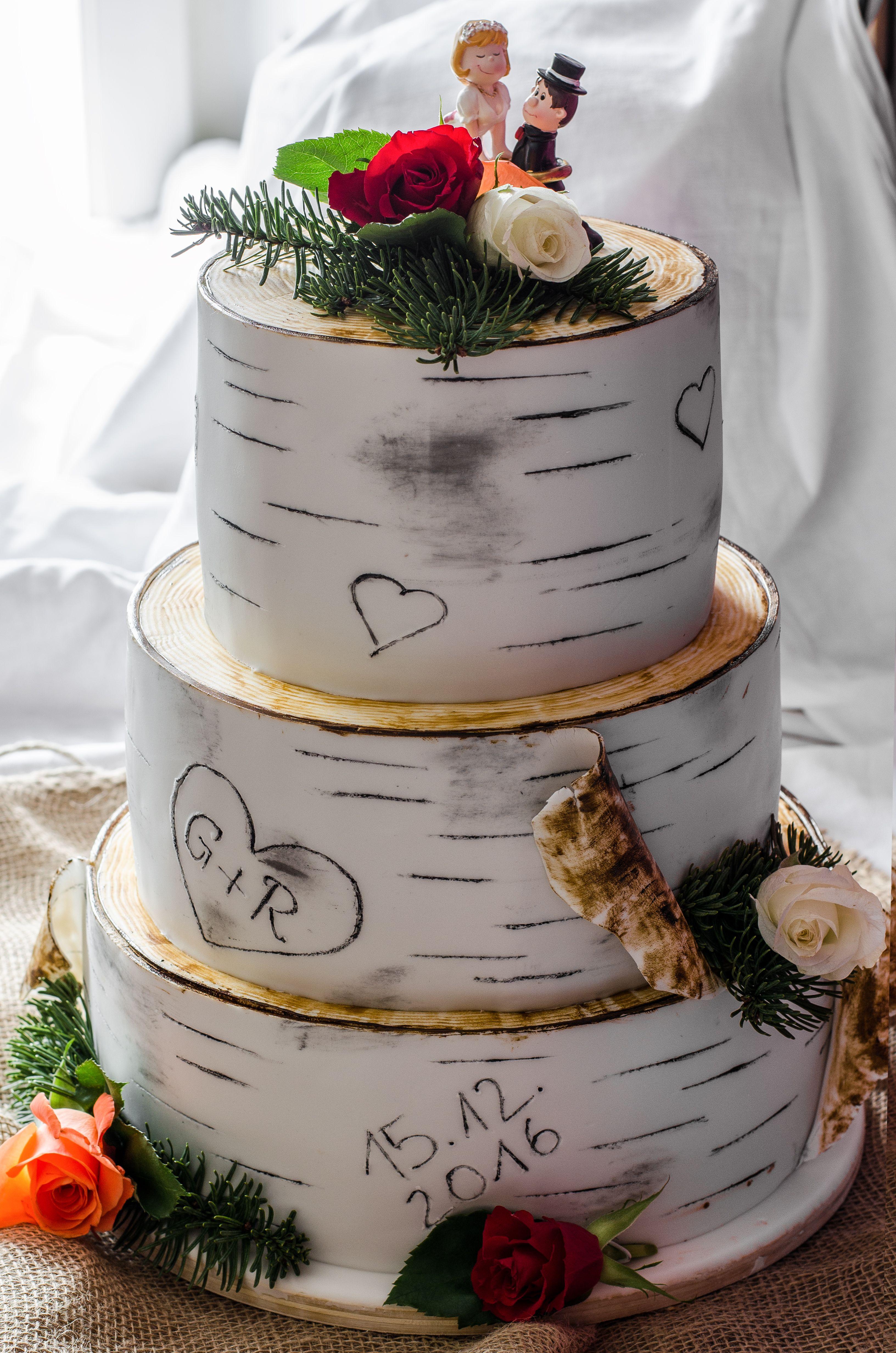 Hochzeitstorte Birke Vegan Wedding Cake Birch All Vegan