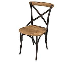 chaise fer et bois naturel et noir l54 129 wood chair wood et decor. Black Bedroom Furniture Sets. Home Design Ideas