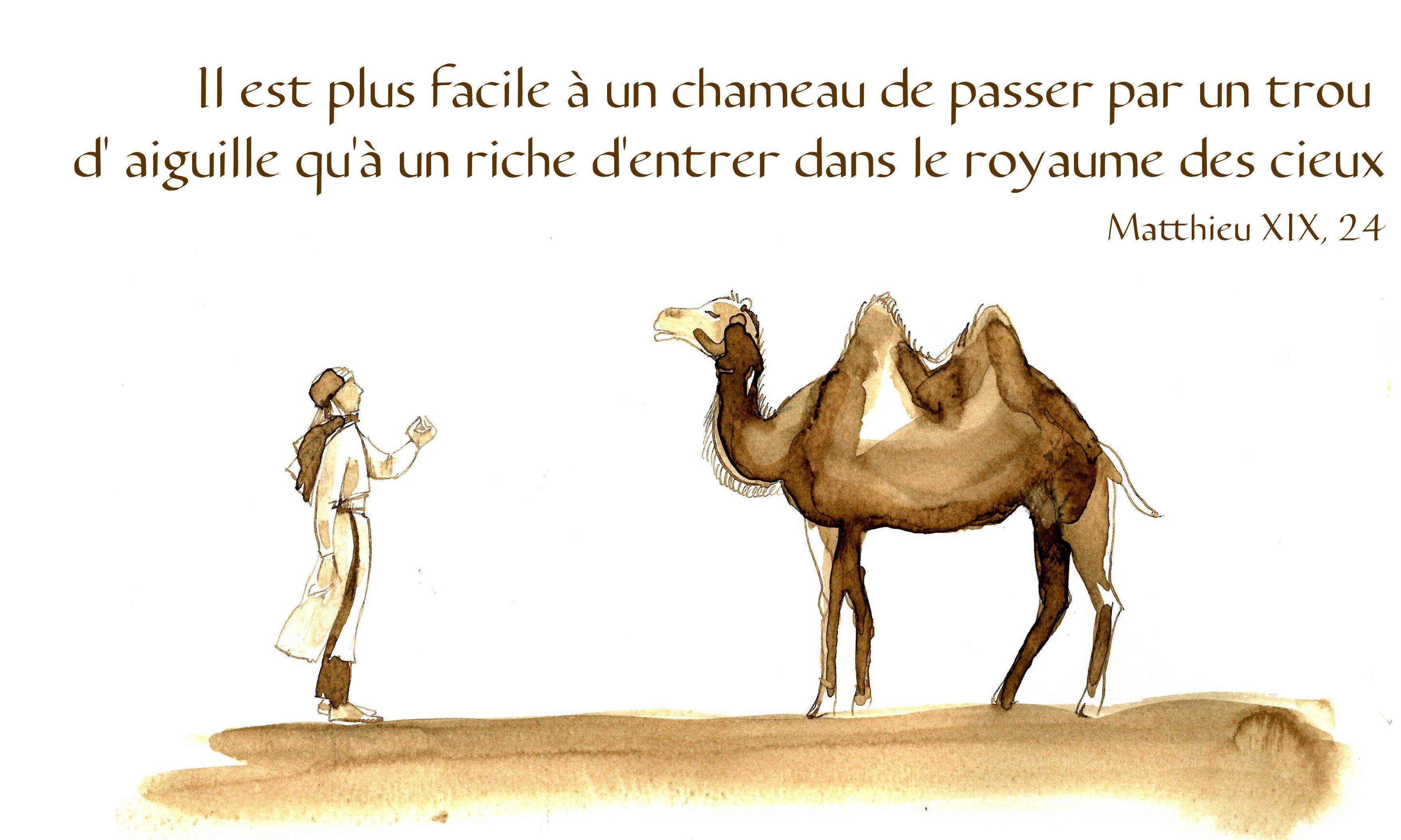 Il est plus facile à un chameau de passer par un trou d'aiguille ...