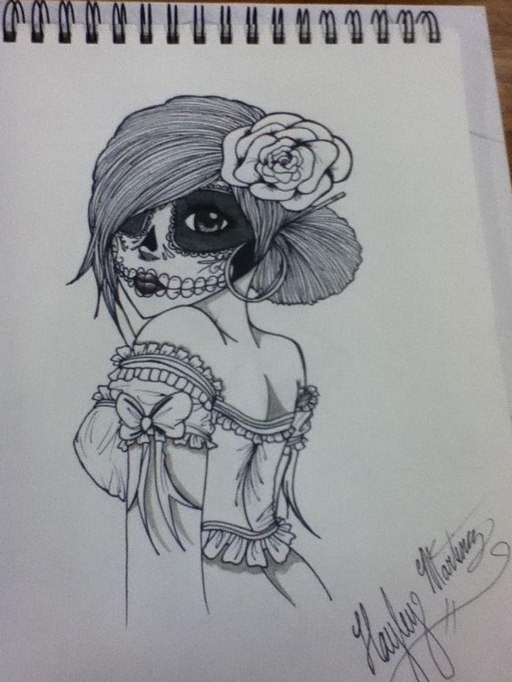 Awesome Drawings Of Sugar Skulls