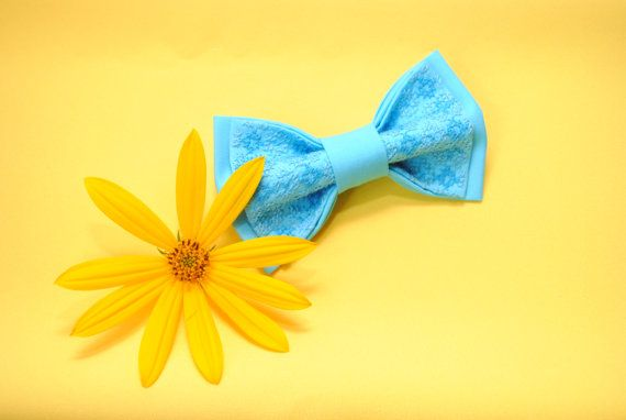 EMBROIDERED bright #blue #bowtie #Men's ties For от accessories482