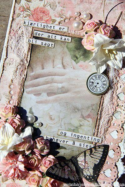 Brettet bryllupskort: studiolight, wedding, butterfly, card