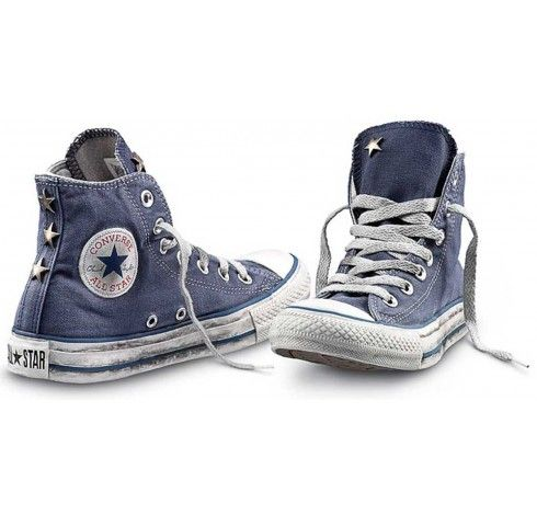 converse limited edition hi canvas studs blue shoes. Black Bedroom Furniture Sets. Home Design Ideas