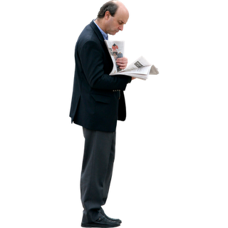 Business Man Reading Newspaper Immediate Entourage People Cutout People Png How To Read People