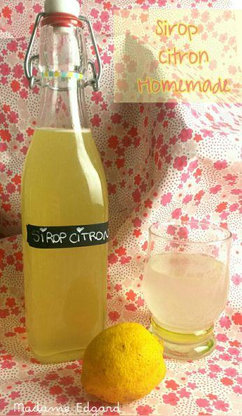 Sirop de citron Maison   Sirop de citron, Sirop fait maison, Recettes de sirop
