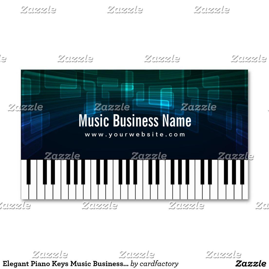 Elegant Piano Keys Music Business Card   Piano lessons   Pinterest ...