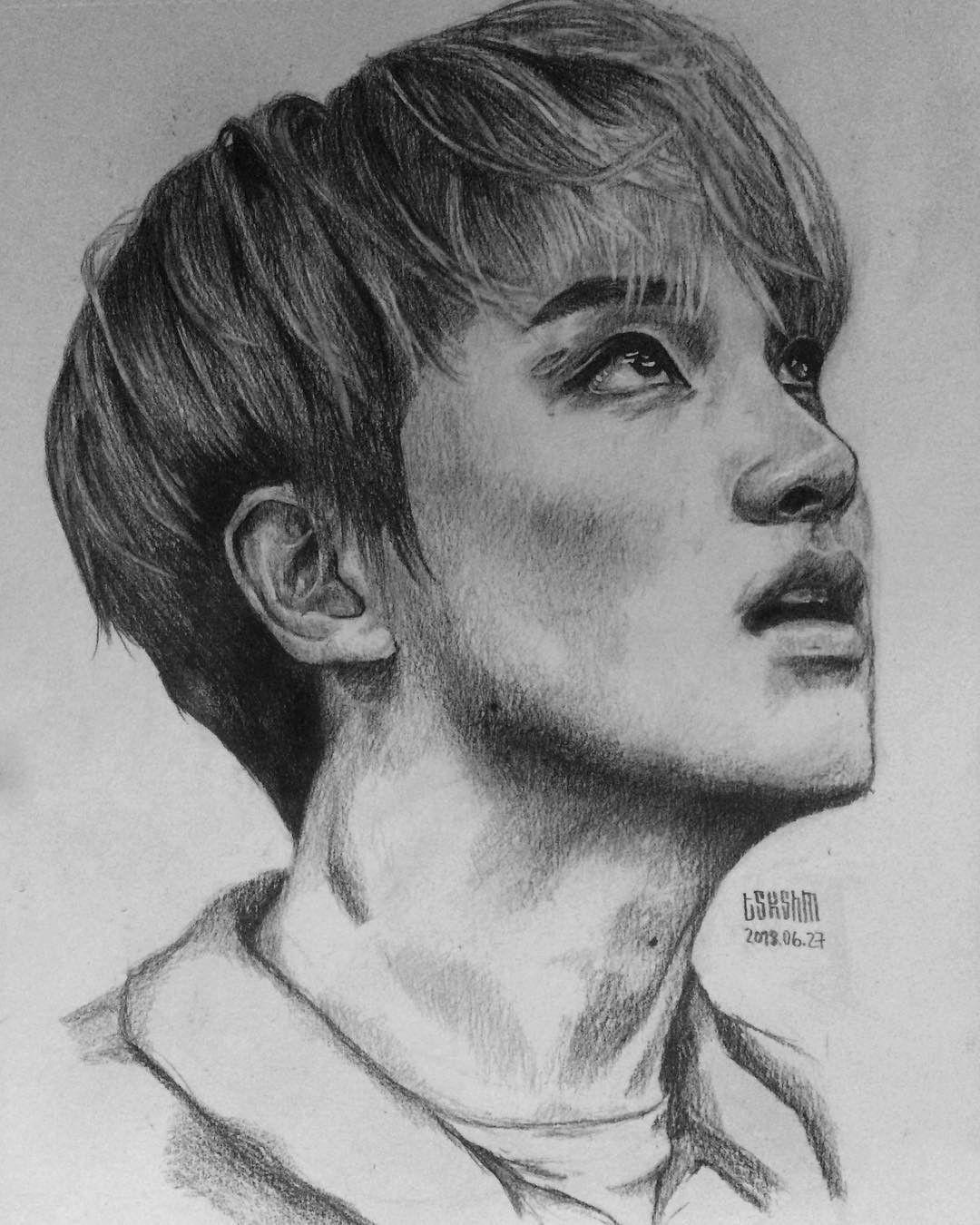 Nct S Haechan Fanart Nct Haechan Fanart Kpop Drawing Sketch Cara Menggambar Gambar Sketsa