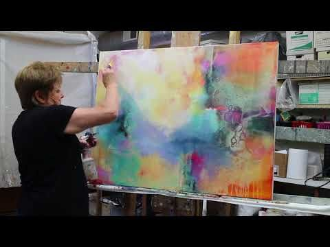 Abstract Painting How To Paint EASY Demonstration Acrylic