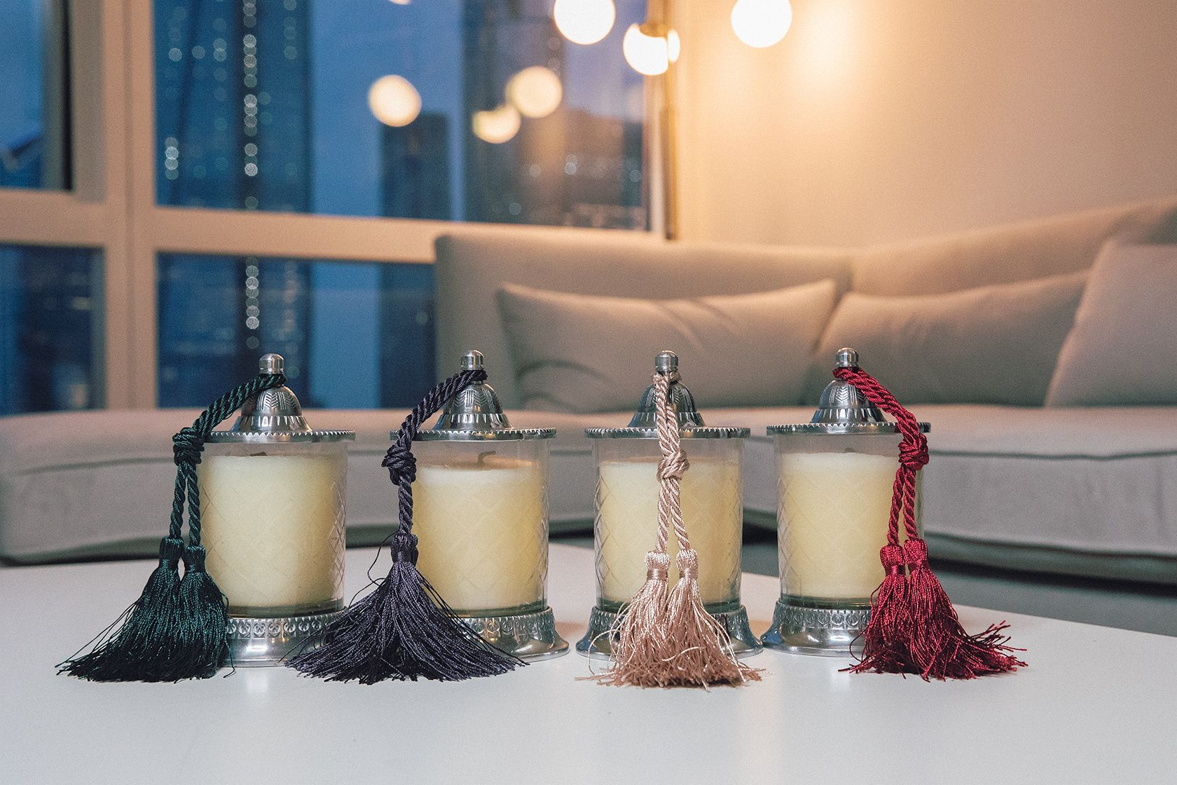 These candles add warmth to every modern living space. Bed