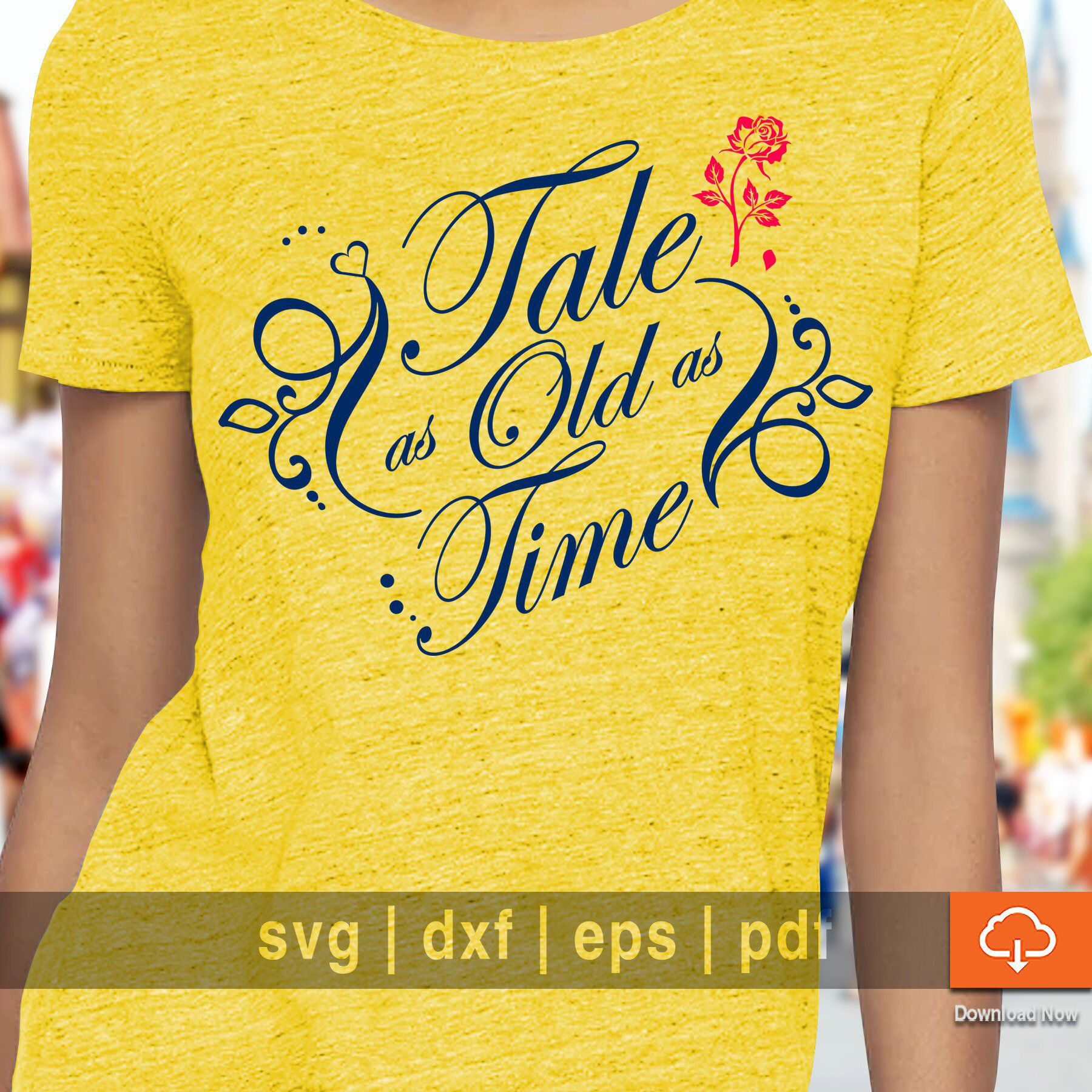 5fb393854e5d6 Beauty Beast T shirt Design SVG Cutting Files - Tale as Old as Time ...