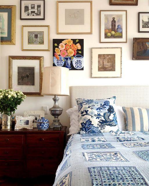 Gallery wall around bed la mia casa pinterest for Casa mia decoracion
