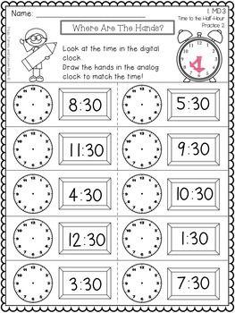 Telling Time 1st Grade Time Worksheets 2nd Grade Math Worksheets First Grade