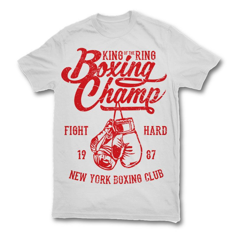 Boxing champ t shirt design 128 tshirt designs template for Custom t shirts long island ny