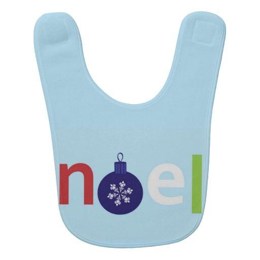 Noel Baby Bib  #Noel #Christmas #Bib #Baby #Infant