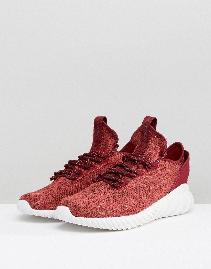 adidas originali tubulare doom sock primeknit scarpe rosse by3560