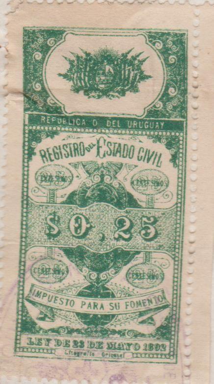 Republic Of Uruguay Official Revenue Stamp 1905 Com Imagens