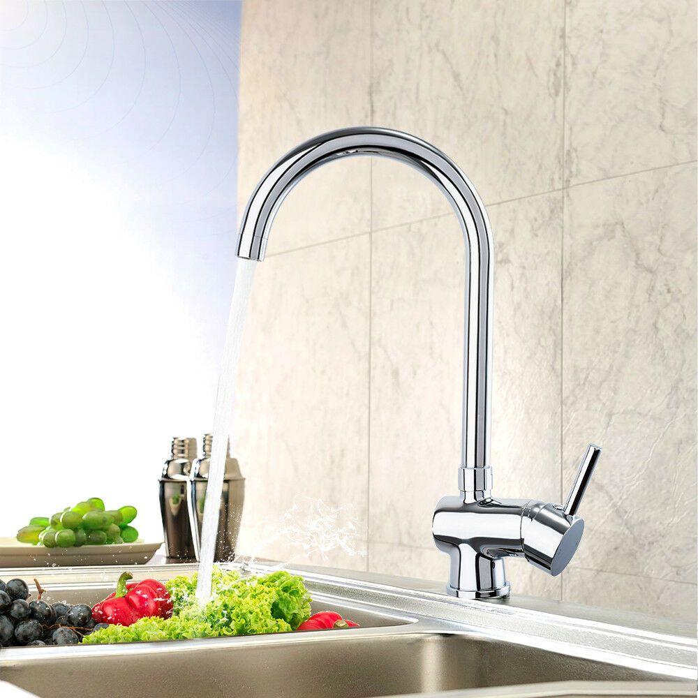 Double Handles High Arc Kitchen Faucet Oil Rubbed Bronze Hot/&Cold Mixer Taps