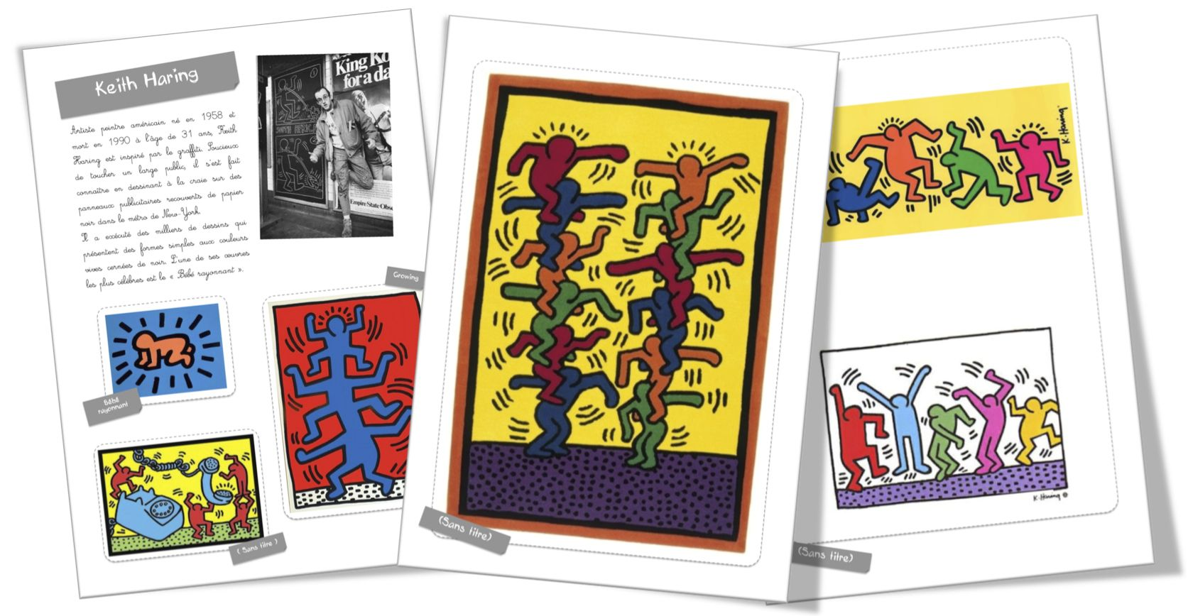 Top Fiche artiste : Keith Haring | Dossier, Fiches et Keith haring CW25
