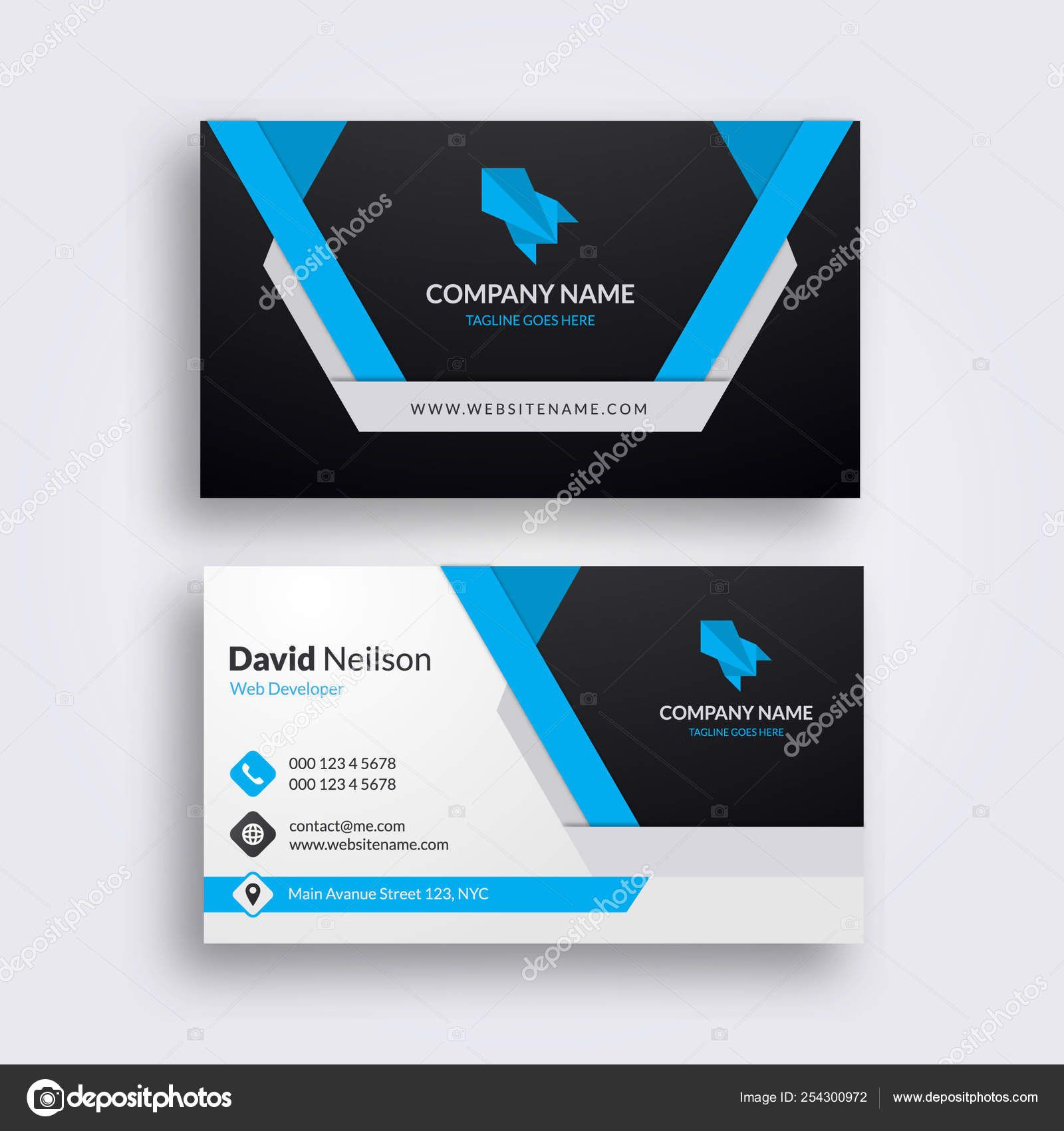 Professional Abstract Business Card Clean Fresh Design Regarding Visiting Card Illustrator Cleaning Business Cards Free Business Card Templates Visiting Cards