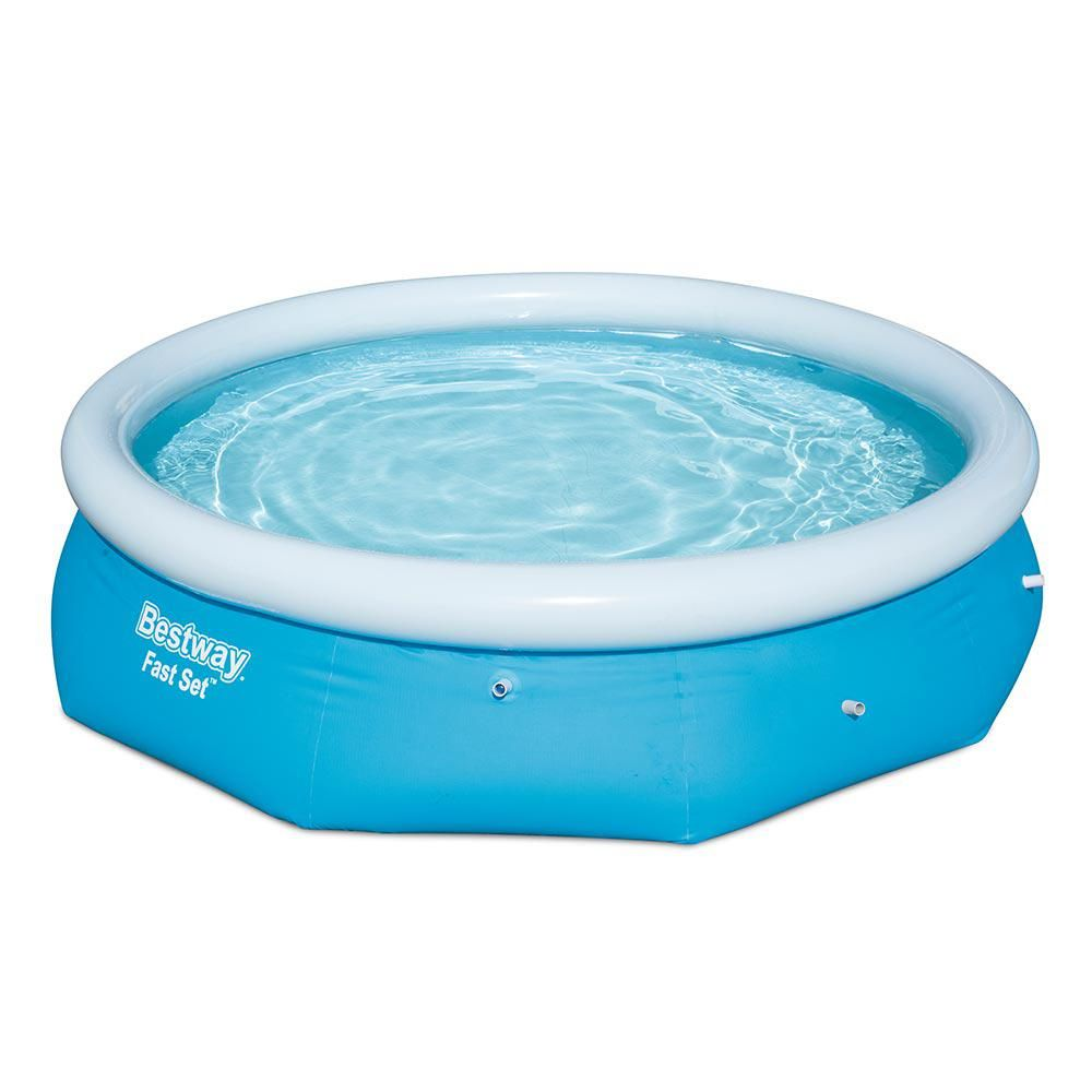 Bestway Fast Set 10 Ft Round X 30 In Deep Inflatable Pool 57307e The Home Depot Inflatable Pool Inflatable Swimming Pool Family Inflatable Pool