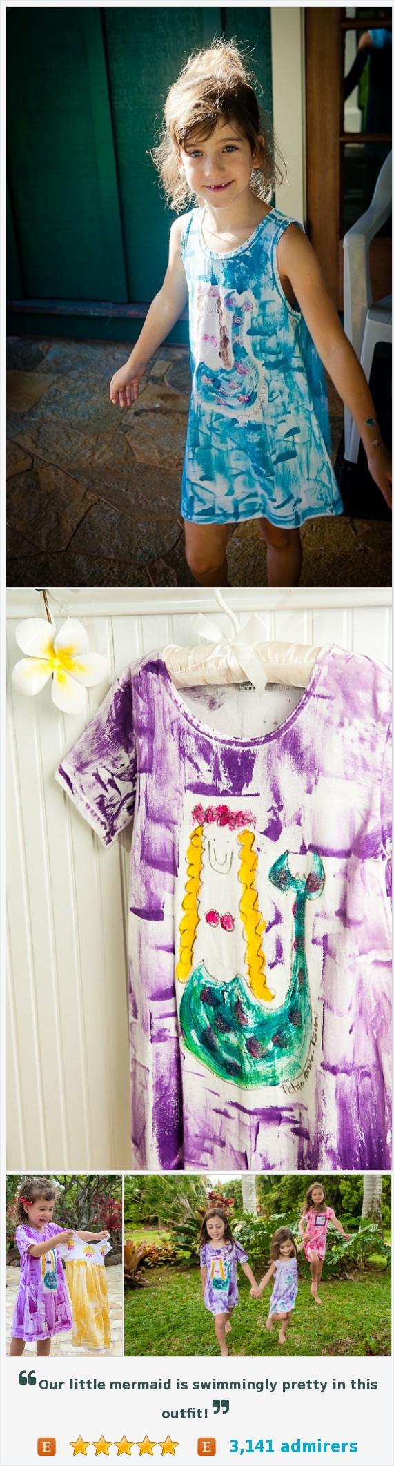 Girls sundress girl summer dress kauai hawaii mermaid girls sundress girl summer dress kauai hawaii mermaid mermaid dress hawaii girl gift cotton beach dress purple pink aqua negle Gallery