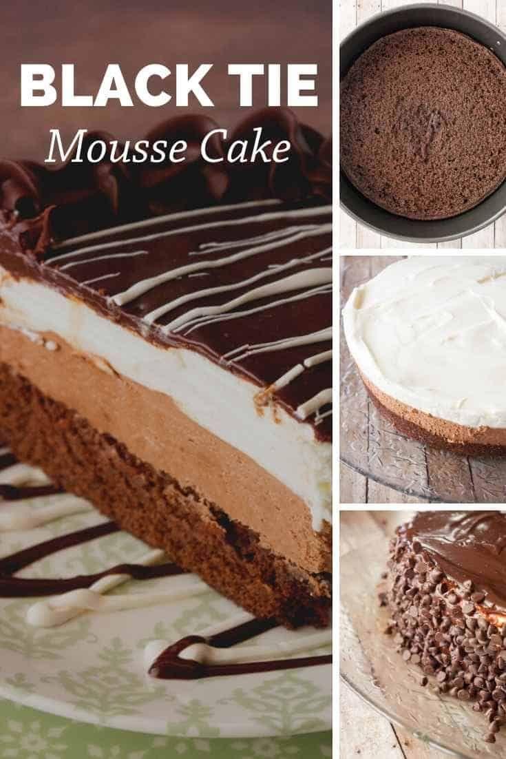 Black tie mousse cake recipe mousse cake cake