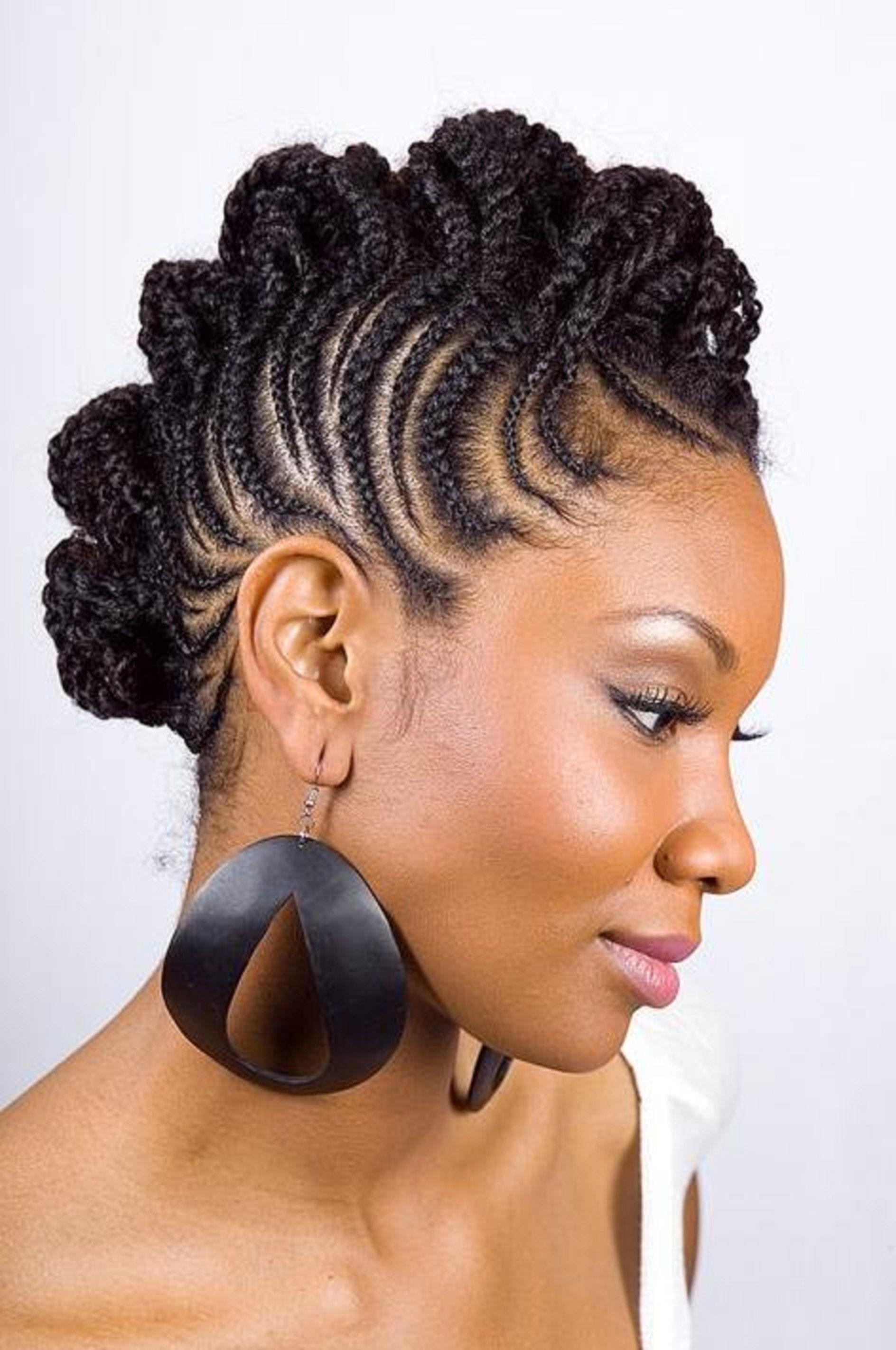 Hair styles, Womens hairstyles, Braided mohawk hairstyles