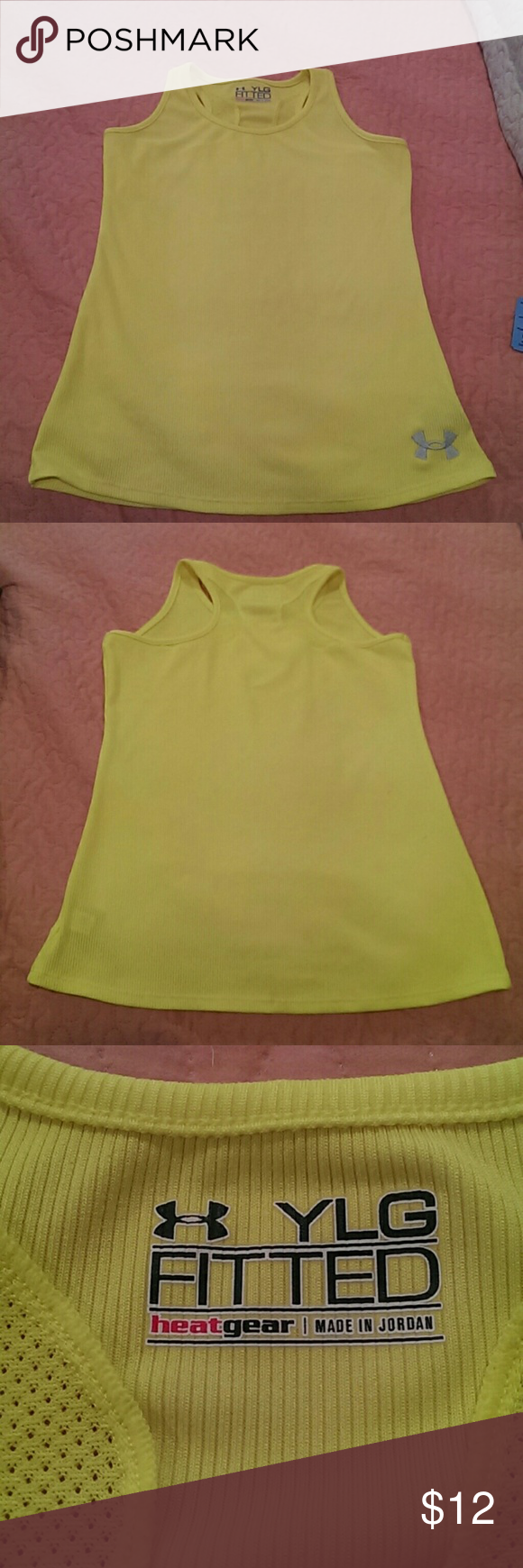 Under Armour yellow fitted tank Under Armour yellow fitted tank Under Armour Tops Tank Tops