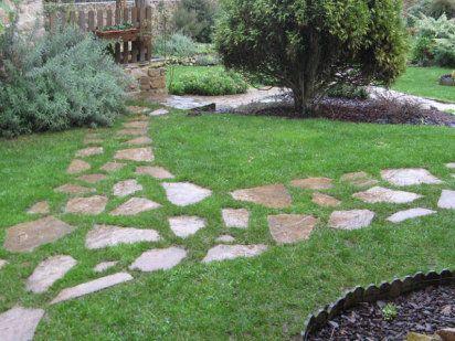 construye un camino de piedra para el jardn