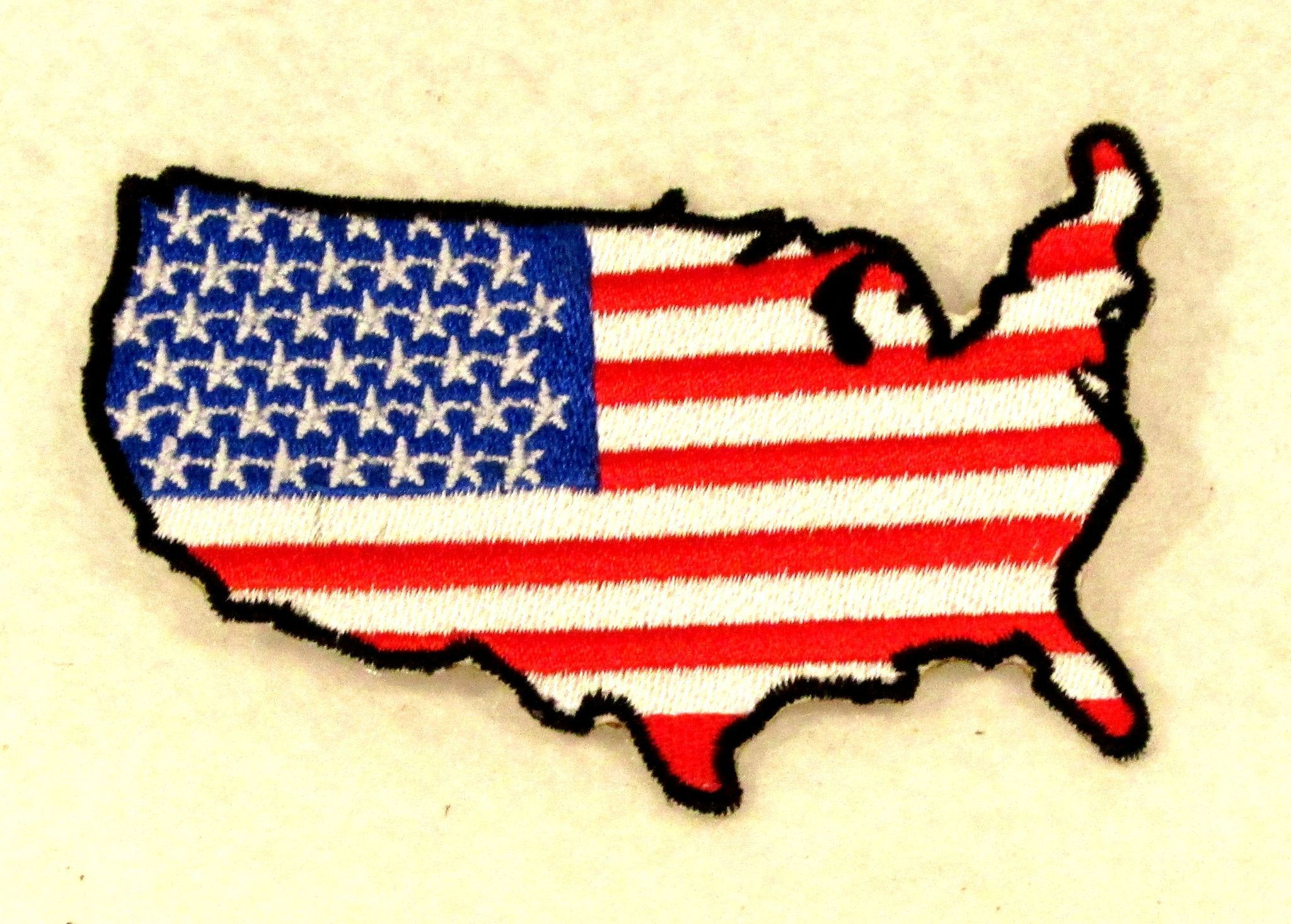 USA Boarder Flag Small Patch Iron on for Biker Vest SB730