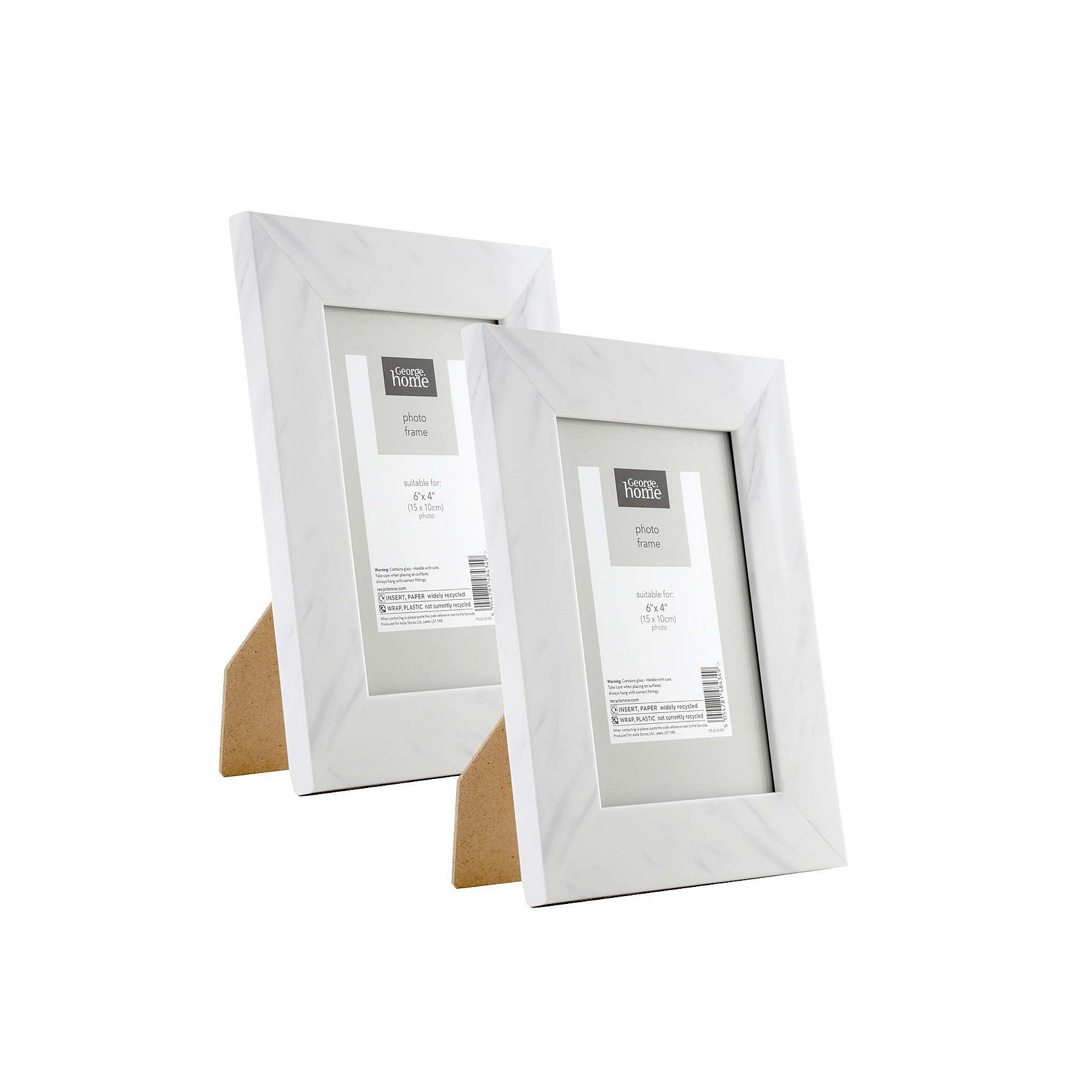 Marble Effect Frame 6x4inch 2 Pack George Marble Effect Frame 2 Photo Frame