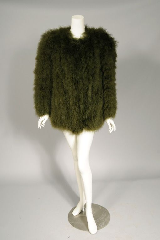 019f0a73034 Yves Saint Laurent Marabou Feather Jacket | From a collection of rare  vintage jackets at http