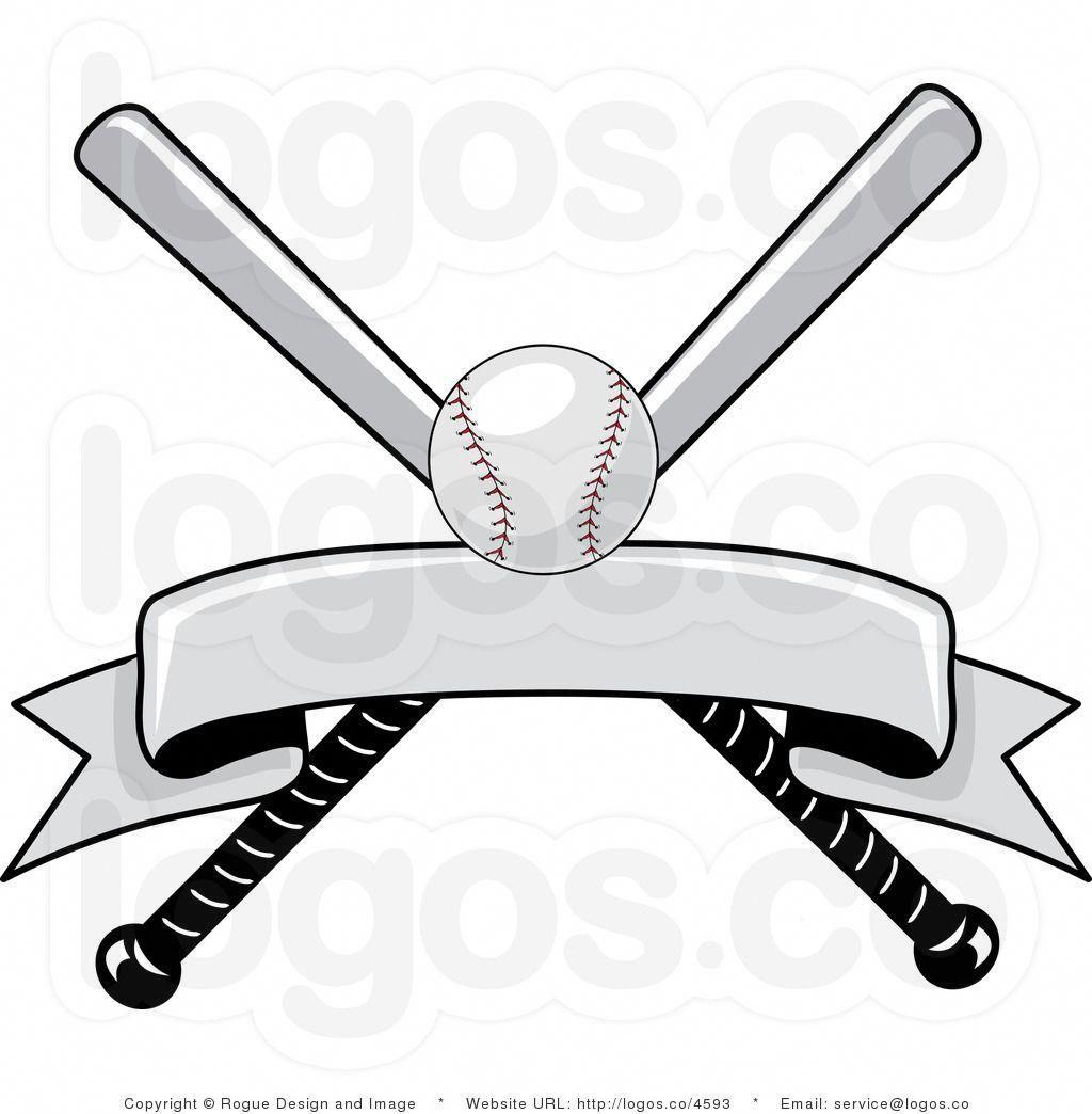 Royalty Free Baseball Bat And Ball With Blank Banner Logo Baseballbats Baseball Banner Baseball Print Baseball Design
