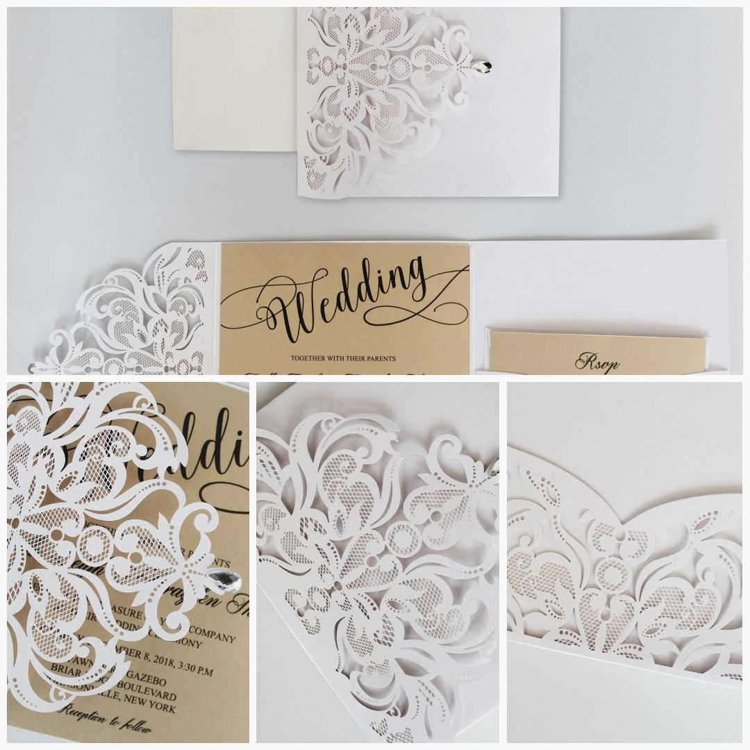 Luxury White Wedding Invitation with RSVP Cards White and Gold Bridal  Shower Invitation Cards in 2020 | Gold bridal shower invitations, Bridal  shower invitation cards, White wedding invitations
