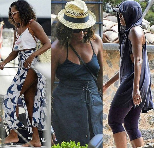 #FirstLady #MichelleObama in #Mallorca #Island in #Spain visiting American diplomat James Costos and his partner, Michael Smith #Obama #BarackObama #ObamaFoundation #ObamaGirls #TheObamas