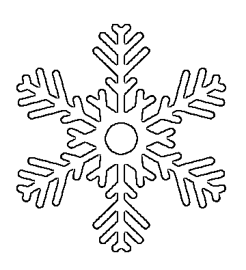 photograph regarding Snowflake Printable named Cost-free Printable Snowflake Templates Weighty Minimal Stencil
