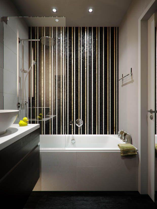 แบบห องน ำ กระเบ องโมเสคสามส ทำให ห องน ำโดดเด น บ านไอเด ย แบบบ าน ตกแต งบ าน เว บไซต เพ อบ า Fancy Bathroom Top Bathroom Design Bathroom Decor Apartment